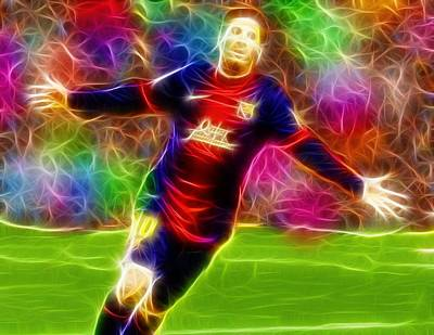 Messi Drawing - Magical Lionel Messi by Paul Van Scott
