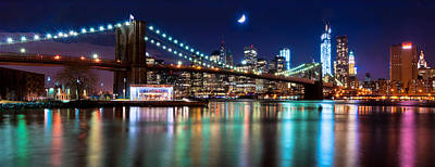 D700 Photograph - Magical New York Skyline Panorama by Mitchell R Grosky