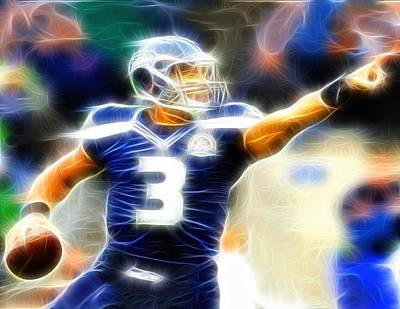 Magical Drawing - Magical Russell Wilson by Paul Van Scott