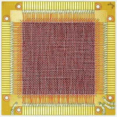 Microchip Photograph - Magnetic-core Memory Of Univac Computer by Pasieka