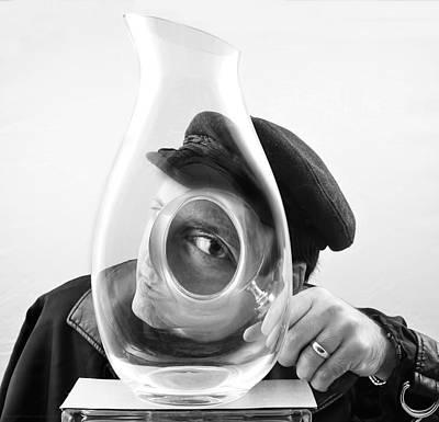 Art Appraisal Photograph - Magnif-eyed Inspection by Chrystyne Novack