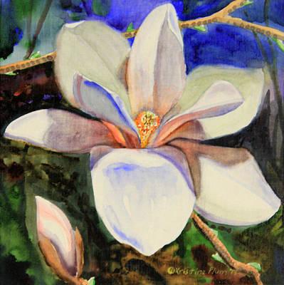 Kristine Painting - Magnolia 3d by Kristine Plum