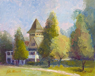 Lowcountry Painting - Magnolia House by John Albrecht