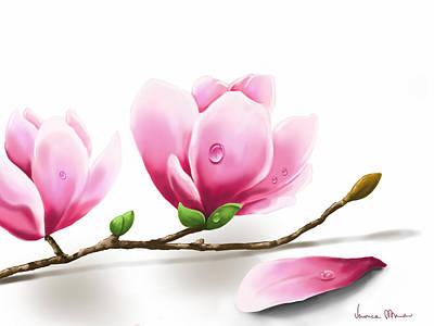 Magnolia Print by Veronica Minozzi