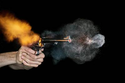 High Speed Photograph - Magnum Revolver Shot by Herra Kuulapaa � Precires