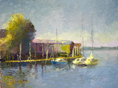 Magwood Docks Print by John Albrecht