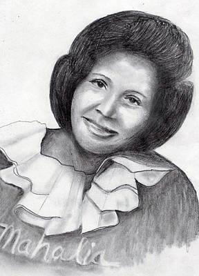 Mahalia Jackson Drawing - Mahalia by Milton Rogers