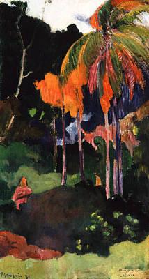 Mahana Ma'a Print by Paul Gauguin