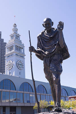 Mahatma Gandhi Photograph - Mahatma Gandhi At The Port Of San Francisco Ferry Building On The Embarcadero Dsc1647 by Wingsdomain Art and Photography