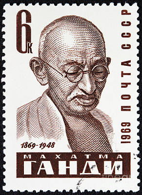 Mahatma Gandhi Photograph - Mahatma Gandhi Stamp by GIPhotoStock