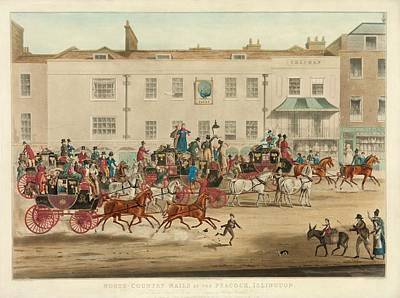 Mail Coaches In England Print by Library Of Congress