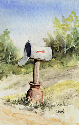 Mail Box Painting - Mailbox by Sam Sidders
