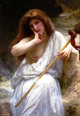 William-adolphe Bouguereau Painting - Mailice by William-Adolphe Bouguereau