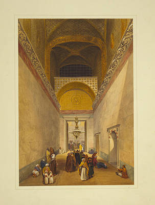 Main Entrance To The Mosque Print by Celestial Images