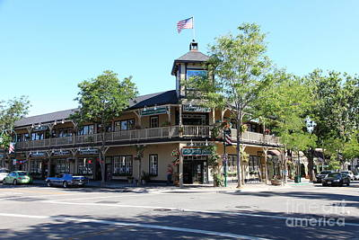 Pleasanton Photograph - Main Street Americana Pleasanton California 5d23987 by Wingsdomain Art and Photography