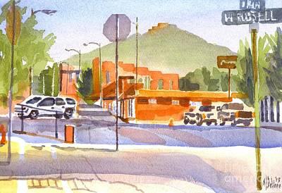 Main Street Corners Painting - Main Street In Morning Shadows by Kip DeVore