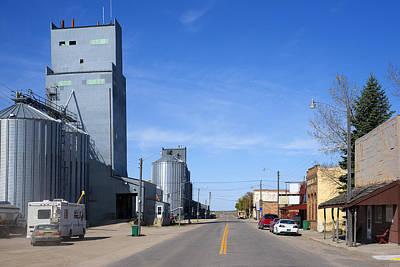 The Main Photograph - Main Street Sheyenne North Dakota by Donald  Erickson