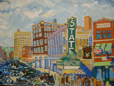 Main Street Print by Rodger Ellingson