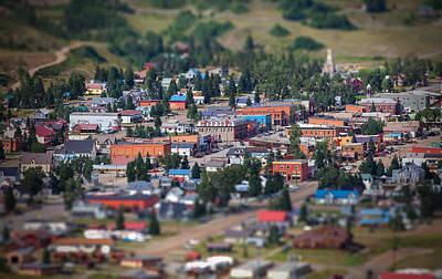 Colorado Mountains Photograph - Main Street Silverton Colorado by Darren  White
