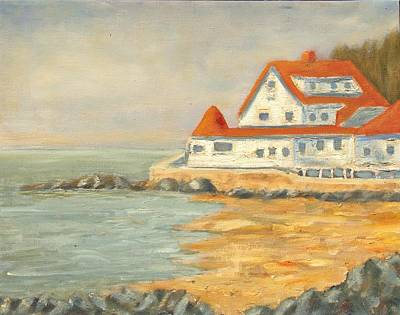 Villa By The Sea Painting - Maine Coast by Michael Lynn Brown