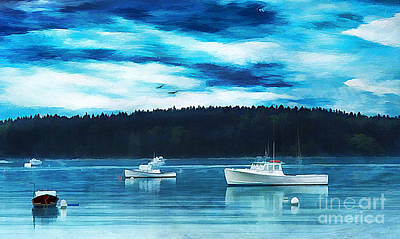 Maine Harbor Print by Darren Fisher