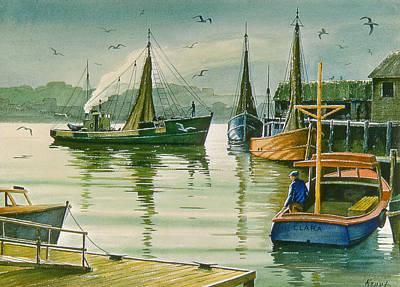 Maine Harbor Print by Paul Krapf