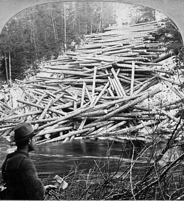 Logging Painting - Maine Lumber, C1903 by Granger