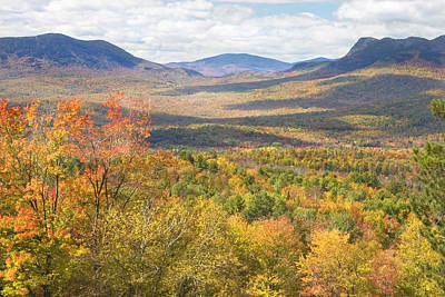 Maine Mountains In Fall Mount Blue State Park  Print by Keith Webber Jr