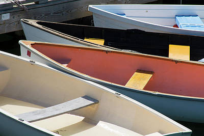 Maine, Rockland Colorful Boats Print by Cindy Miller Hopkins
