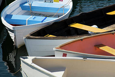 Maine, Rockland Colorful Row Boats Print by Cindy Miller Hopkins