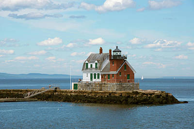 Maine, Rockland, Penobscot Bay Print by Cindy Miller Hopkins