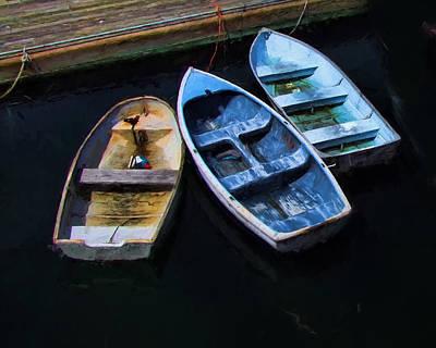 Row Boat Digital Art - Maine Row Boats by David Francey