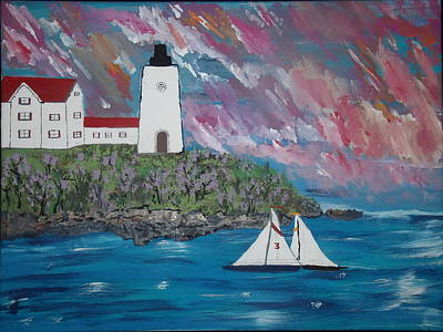 Painting - Maine Seas by Daniel Nadeau