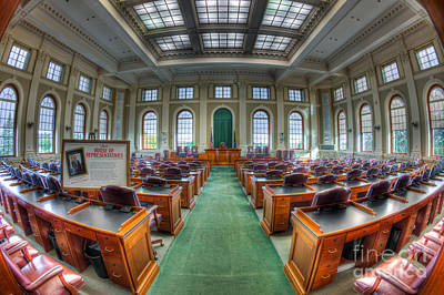 Capitol Building Photograph - Maine State House House Chamber I by Clarence Holmes