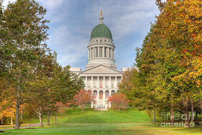 Capitol Building Photograph - Maine State House IIi by Clarence Holmes