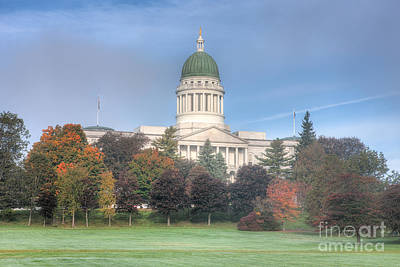 Capitol Building Photograph - Maine State House Ix by Clarence Holmes