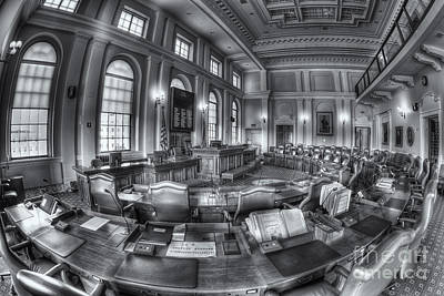 Capitol Building Photograph - Maine State House Senate Chamber II by Clarence Holmes