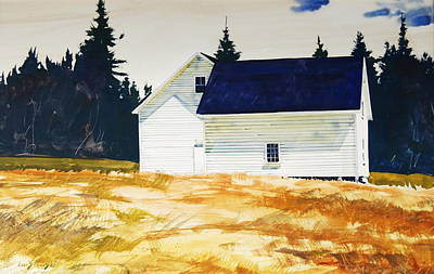 Maine Farms Painting - Maine White by Len Stomski