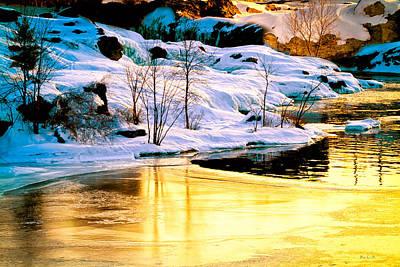 Maine Winter Along The Androscoggin River Print by Bob Orsillo