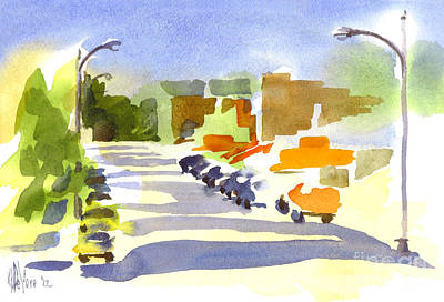 Main Street In Evening Shadows Original by Kip DeVore