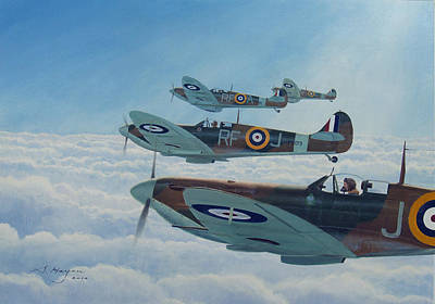 Raf Painting - Maintain Angels Two-four by Steven Heyen