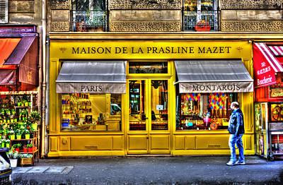Pause Photograph - Maison De La Prasline Paris France by Evie Carrier