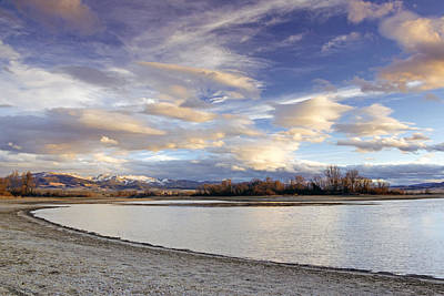 Majestic Clouds Over The Reservoir Print by Dana Moyer