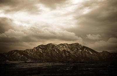 Majestic Flatirons Print by Marilyn Hunt