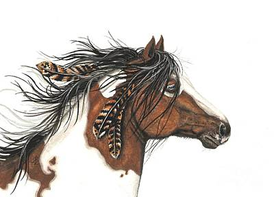 Pinto Painting - Majestic Horse Series 32 by AmyLyn Bihrle