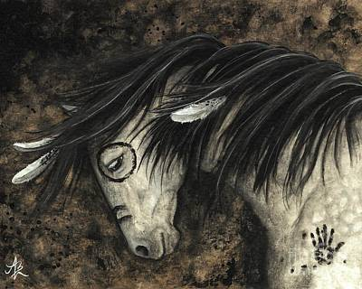 Pinto Painting - Majestic Dapple Horse 58 by AmyLyn Bihrle