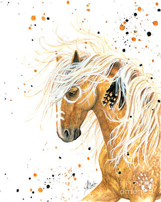 Pinto Painting - Majestic Palomino Horse 84 by AmyLyn Bihrle