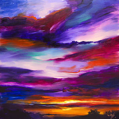 Asheville Painting - Majestic Skies #29 by Jonas Gerard