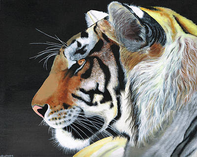 Nature Painting - Majestic Tiger by Heather Bradley