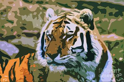 Majestic Tiger Print by Mark Brady